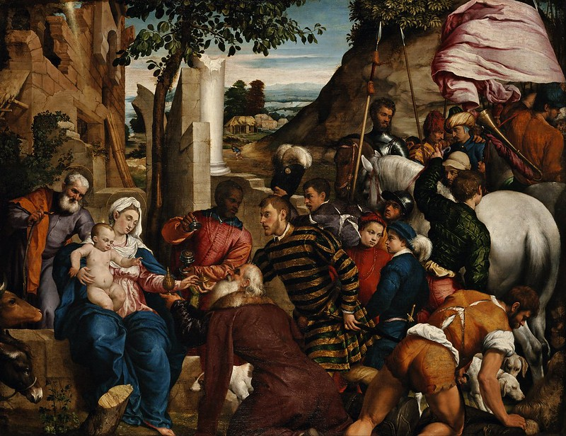 Jacopo Bassano - The Adoration of the Kings (c.1540)