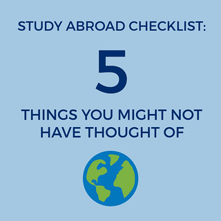 Study Abroad Checklist: 5 Things You Might Not Have Thought Of