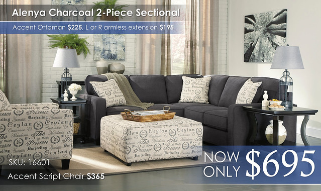 Alenya Charcoal Sectional 16601