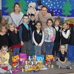 Zbiórka żywności dla zwierząt w świetlicy klas I-III