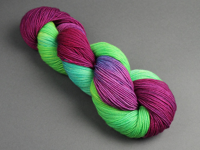 Favourite Sock – hand-dyed superwash merino 4 ply yarn 100g – 'Those Pesky Kids'