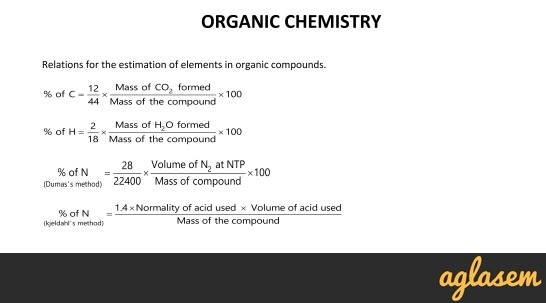 Important Notes of Chemistry for NEET, JEE: Organic Chemistry