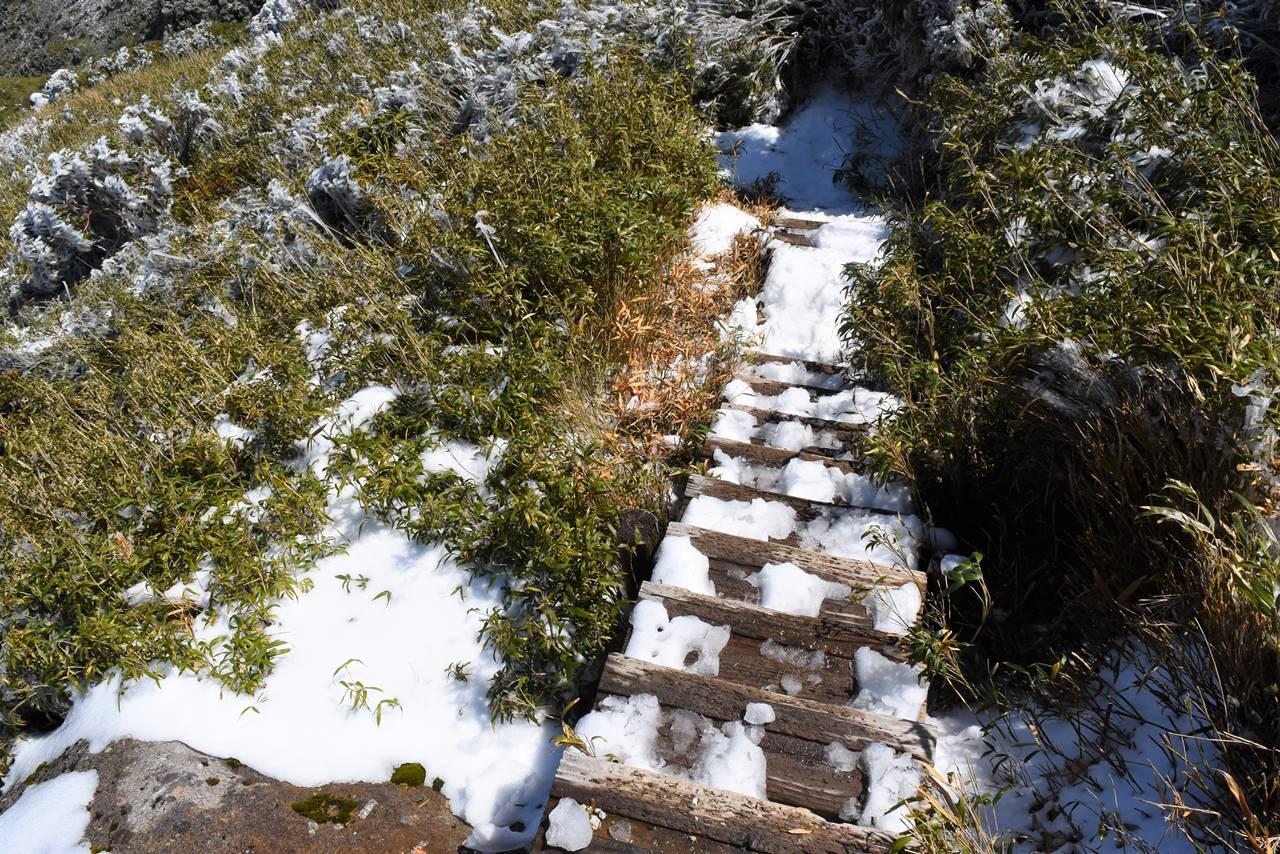宮之浦岳~永田岳 登山道の階段