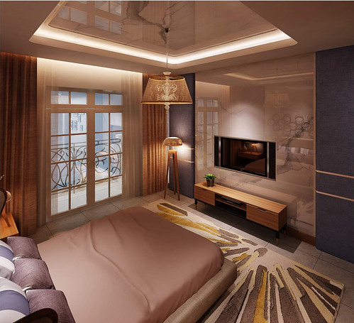 thiết kế phòng ngủ master nhà mẫu dự án nhà phố Bùi Tư Toàn 1