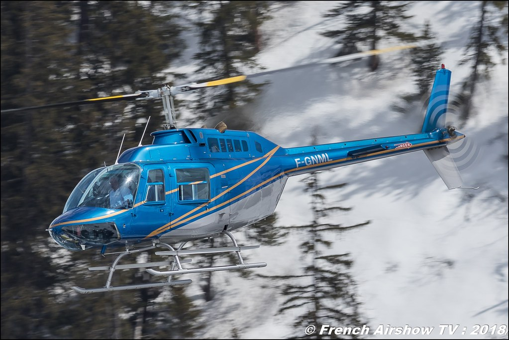 Agusta-Bell AB-206B-3 JetRanger III - F-GNML , CONTI & SCEG , Fly Courchevel 2018 - Altiport Courchevel , Meeting Aerien 2018