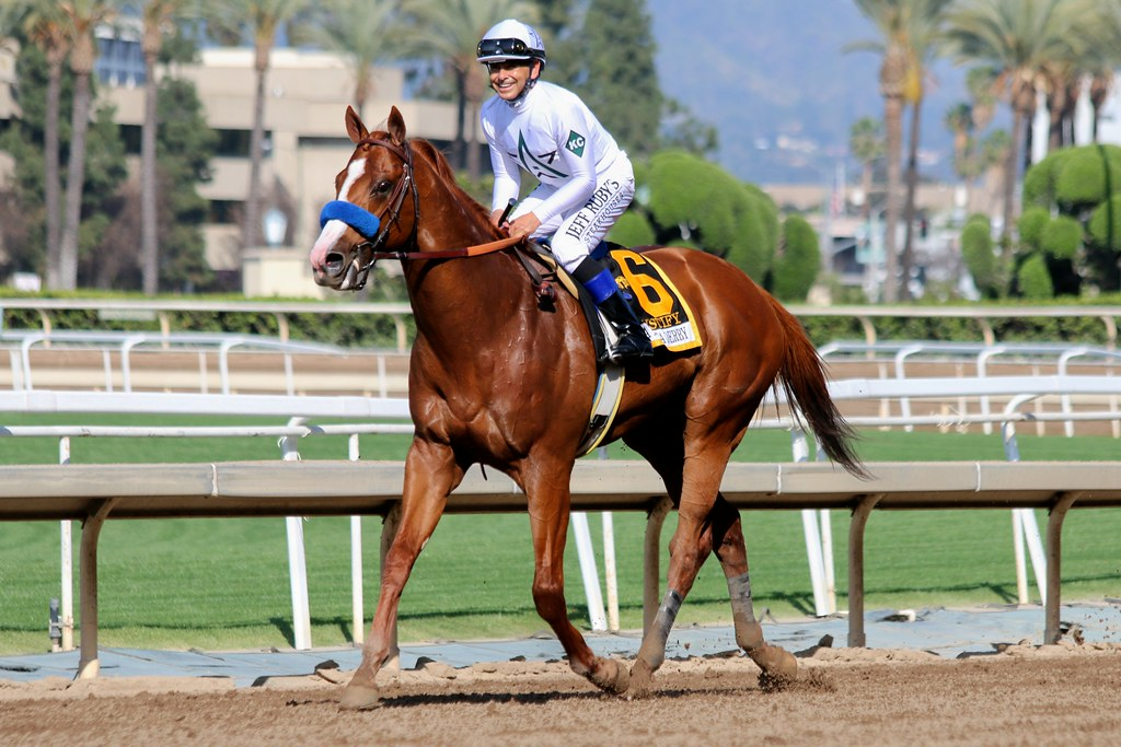Justify Justify And Mike Smith Win The Santa Anita Derby