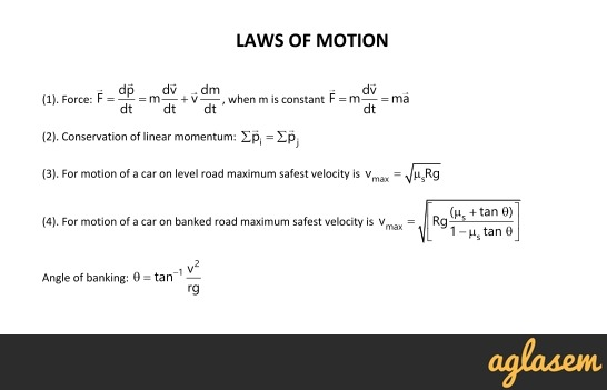 Important Notes of Physics for NEET, JEE: Laws of Motion