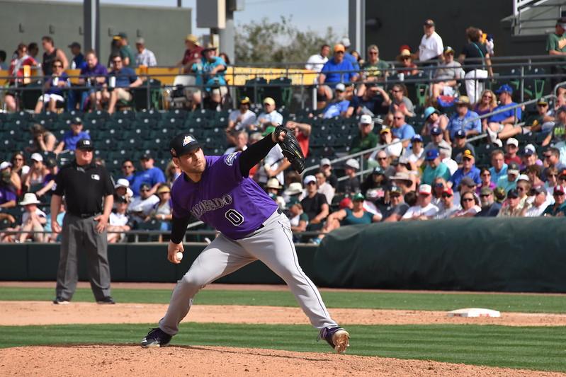 Adam Ottavino投球時,投球手臂的擺動幅度很大,整體姿勢十分獨特。(作者提供)