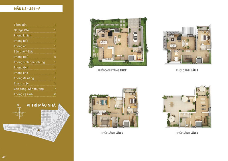 Mẫu thiết kế N3 biệt thự đơn lập Villa Park