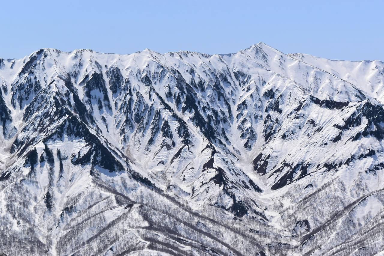 残雪の荒沢岳