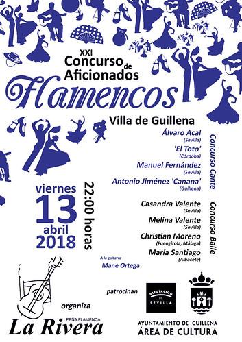 AionSur 41361876322_f0429b1c0f_d Penúltima eliminatoria del XXI Concurso de Aficionados flamencos Villa de Guillena este fin de semana Cultura