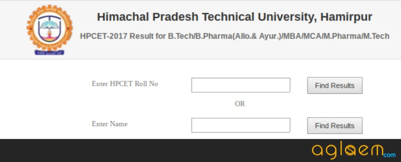 HPCET 2018 Result, Merit List (MBA Entrance Exam): Result Date - 30 May  %Post Title, %Post Category, AglaSem