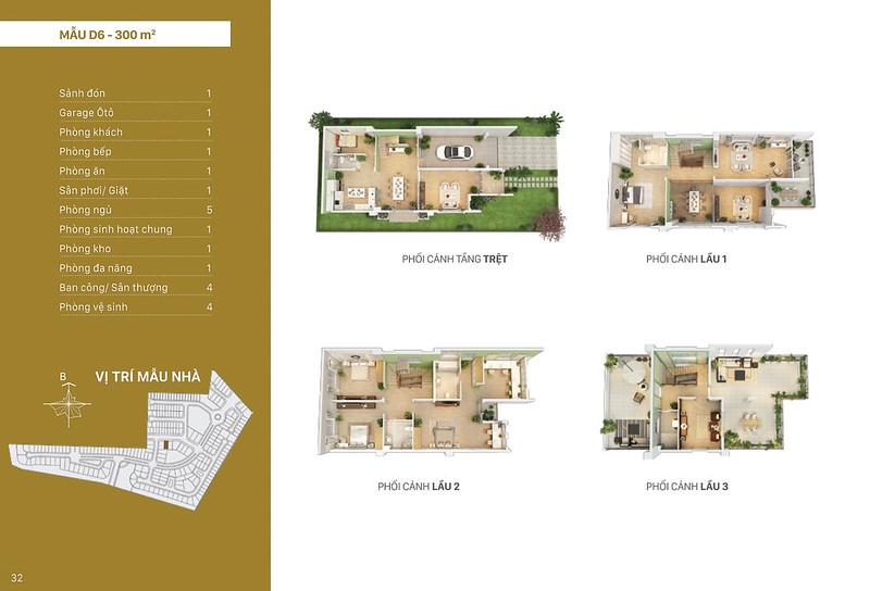 Mẫu thiết kế D6 biệt thự đơn lập Villa Park
