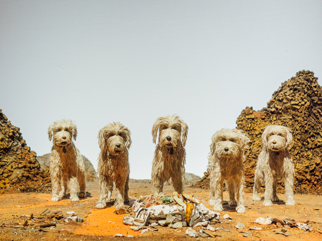 isle of dogs exhibition - dogs on trash island
