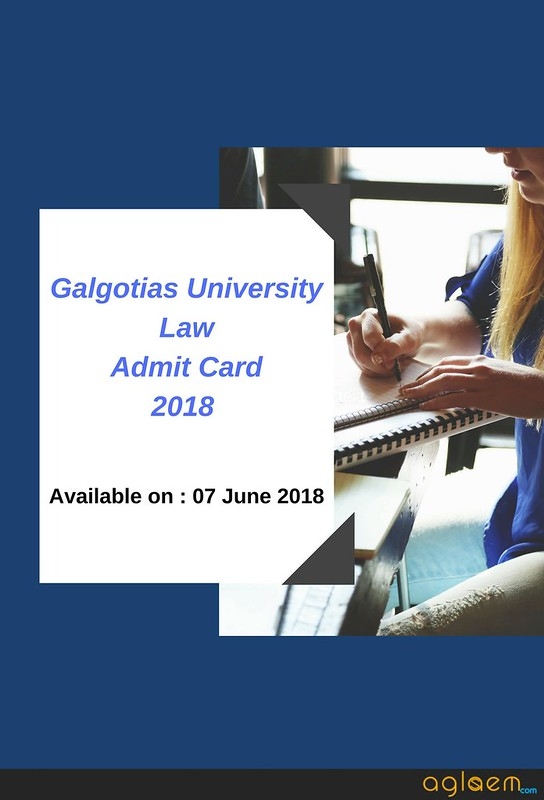 Galgotias University Law Admit Card 2018