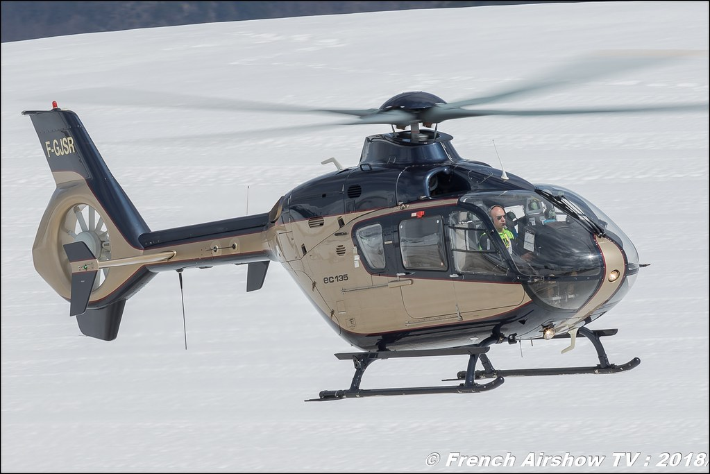 Eurocopter EC-135T2 - F-GJSR , SAF Helicopter , Fly Courchevel 2018 - Altiport Courchevel , Meeting Aerien 2018