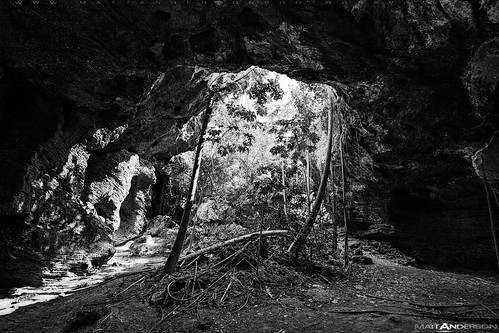 Middle Caicos Cave in BW #2 | by Matt Anderson Photography