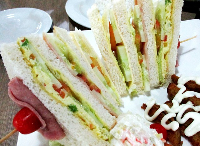 Bamboo House club sandwich
