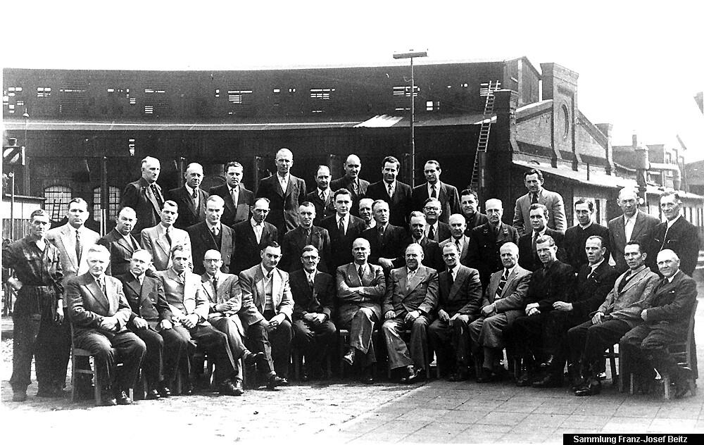 Belegschaft Bw Stolberg Mitte 1950er Jahre