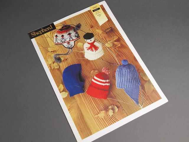 Shepherd 1842 Children's Hats and Snood Vintage Knitting Pattern Leaflet