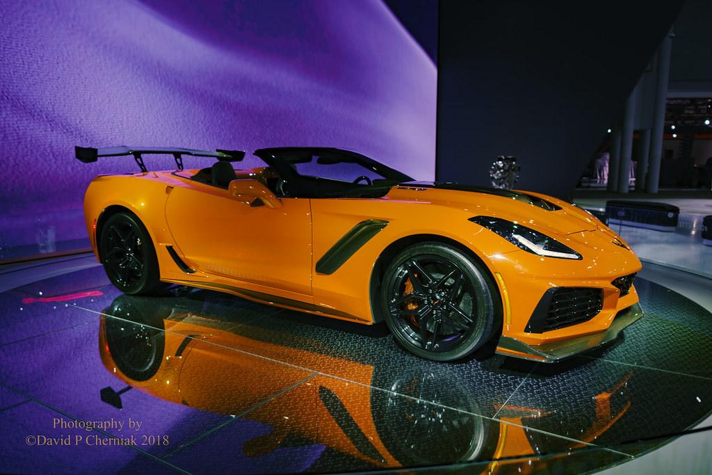 Corvette ZR L HP OrangeBlack On Turntable RF Flickr - Car show 2018 nyc
