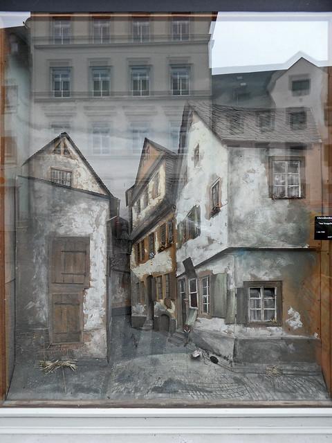 Diorama einer Altstadtszene aus Koblenz-Ehrenbreitstein