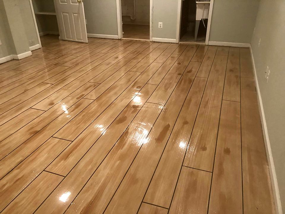 Rustic Concrete Wood Floor Superior Concrete Design Arli