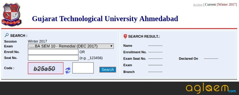 GTU Result 2018: For Winter Session 2017 Exams, Announced at gturesults.in