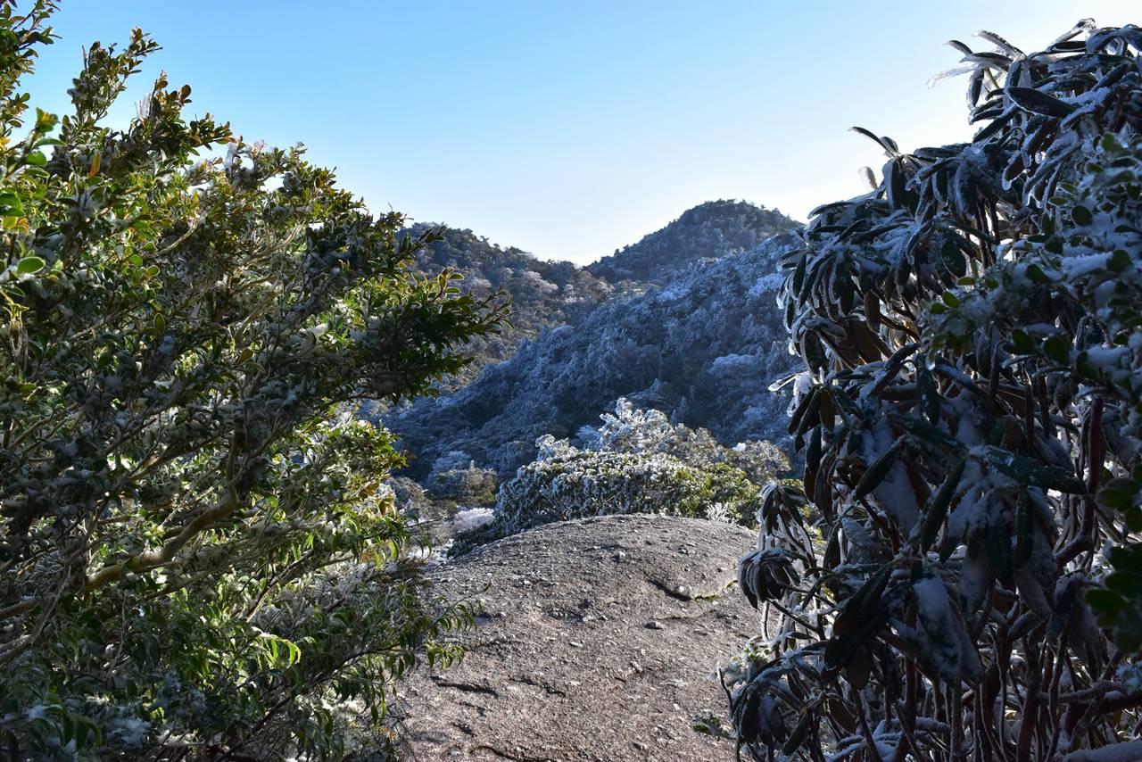 宮之浦岳登山道途中の展望台