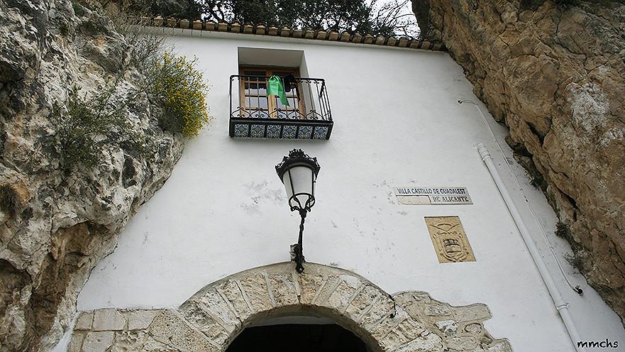 entrada al castillo de Guadalest