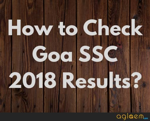 Goa SSC 2018 Results