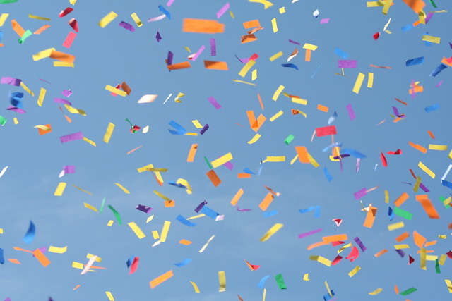 confetti confetti in the blue sky adoseofshipboy flickr