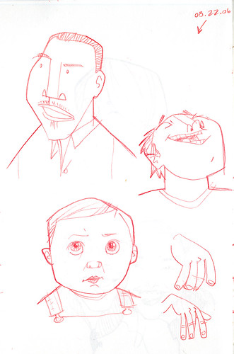 sketches of some guys and ezra | by wardomatic