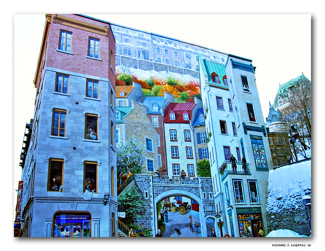The quebec city mural view in large this is the famous for Mural quebec city