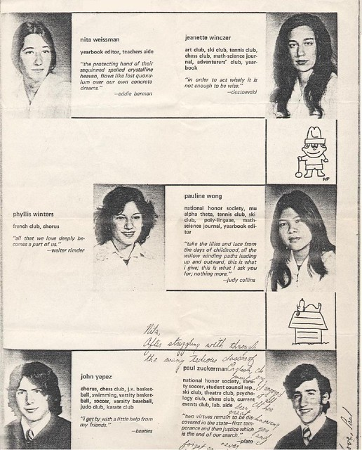 nita weissman s yearbook 1973 nita weissman s yearbook flickr