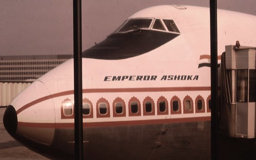 Emperor Ashoka Air India Boeing 747 Scan From Old Slide