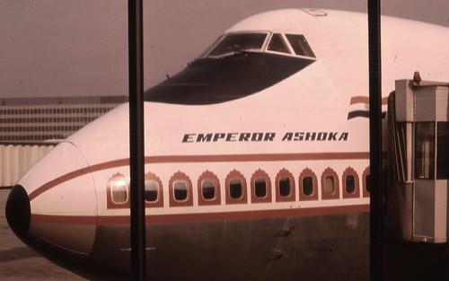 Kejser Ashoka Air India Boeing 747 Scan Fra Gammel Slide-7469