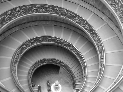 Spiral stairway exit from the Vatican Museum - Rome | by Ruth L