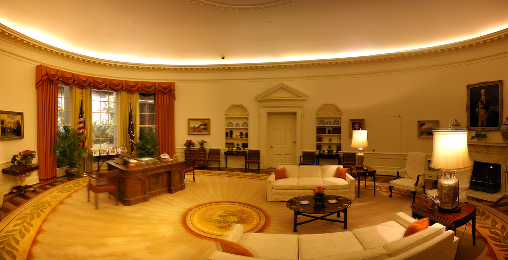 oval office decor. Oval Office @ The Reagan Museum - (29 Stitched) | By TRUE Decor