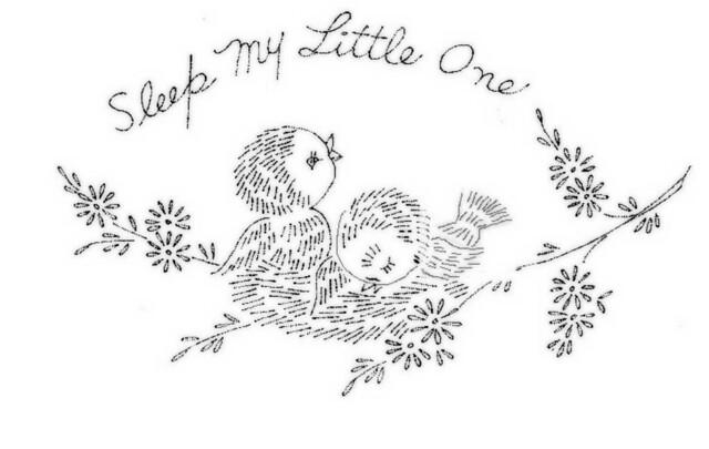 Birdies Pillow Case On A Baby Pillowcase