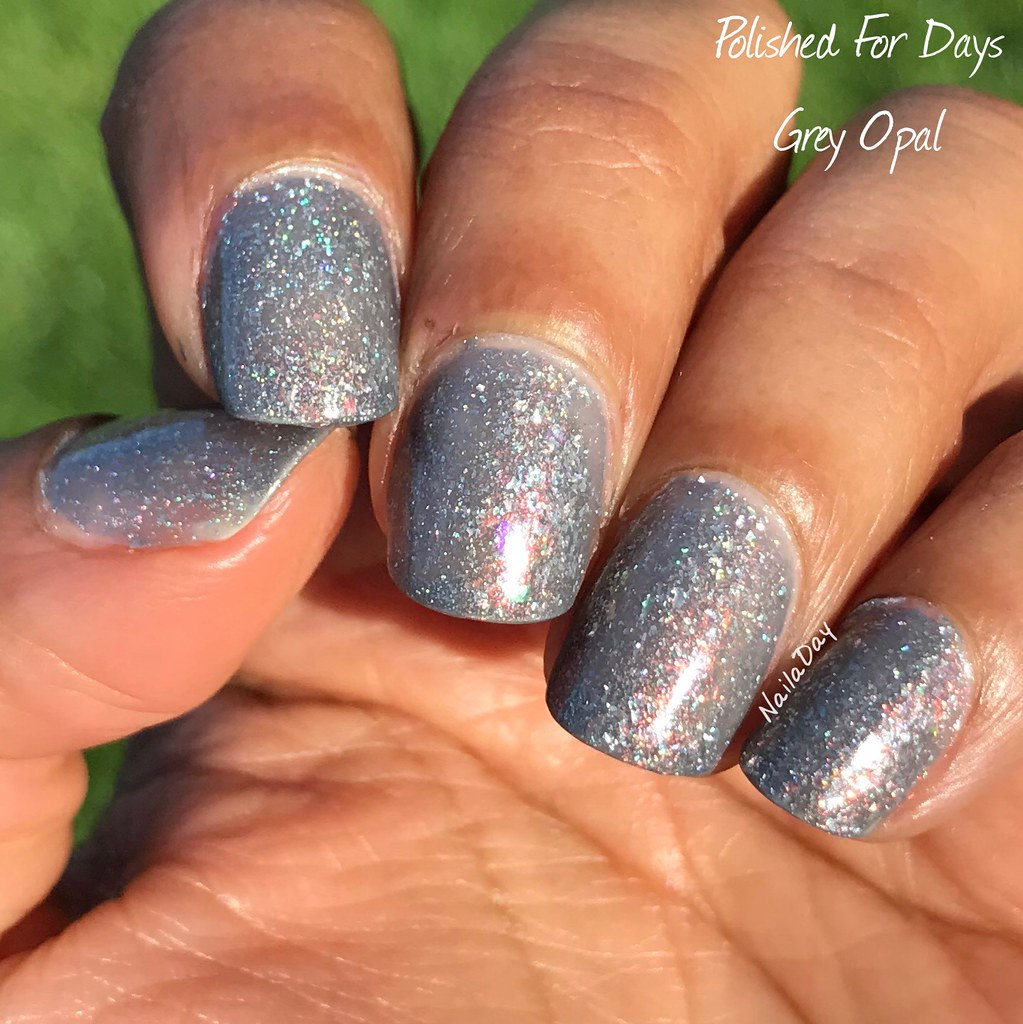 NailaDay: Polished for Days Grey Opal