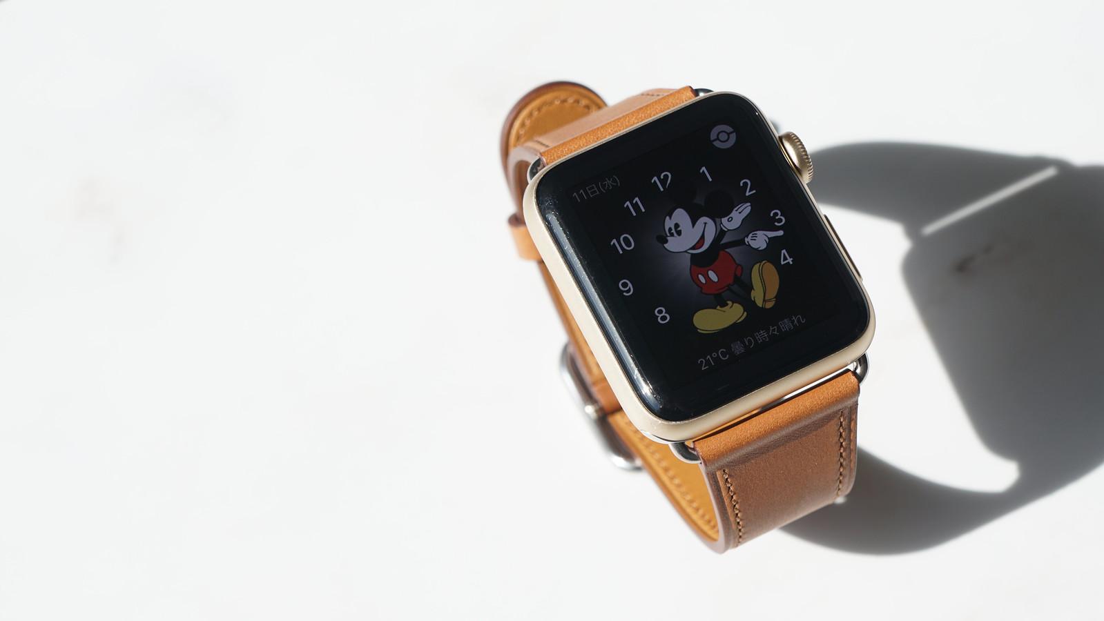Apple Watch サドルブラウンクラシックバックルバンド