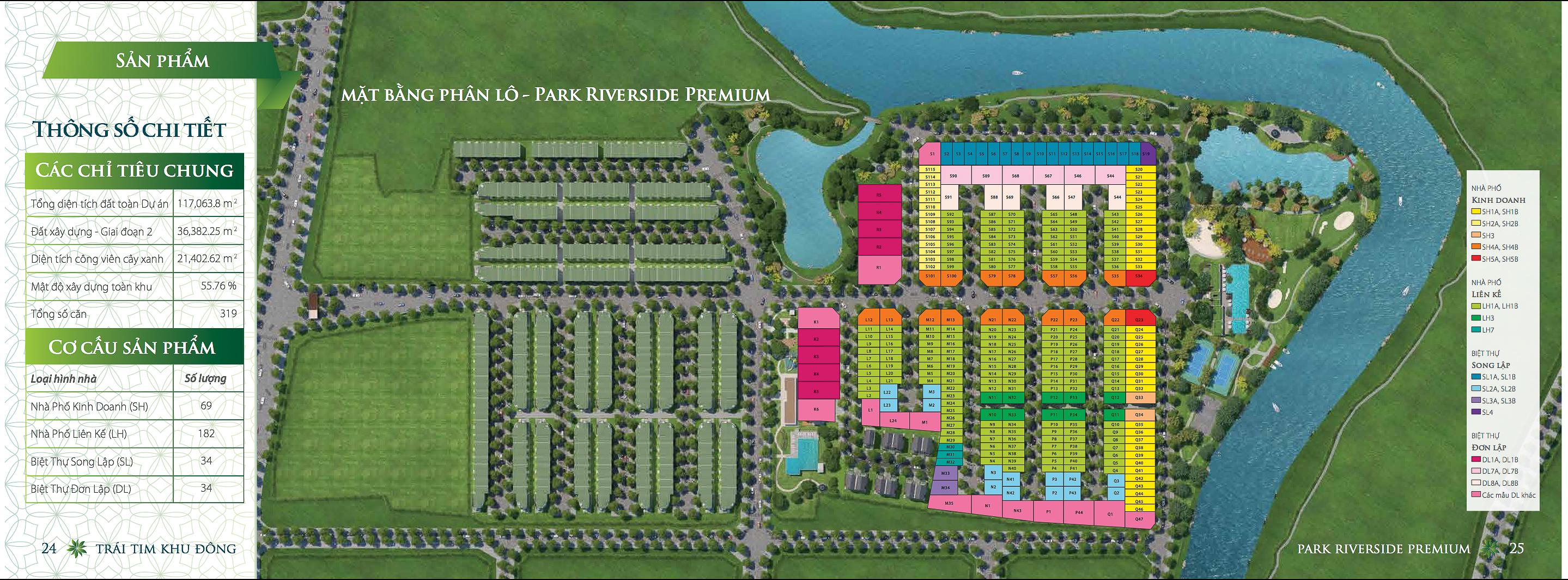 Park Riverside Premium mặt bằng tổng thể