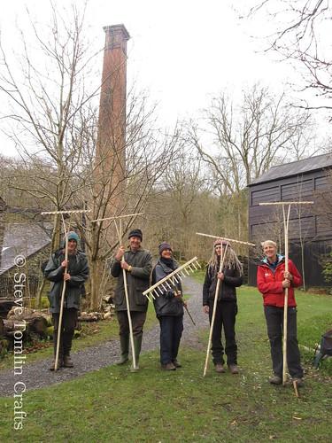 Wooden hay rake workshop