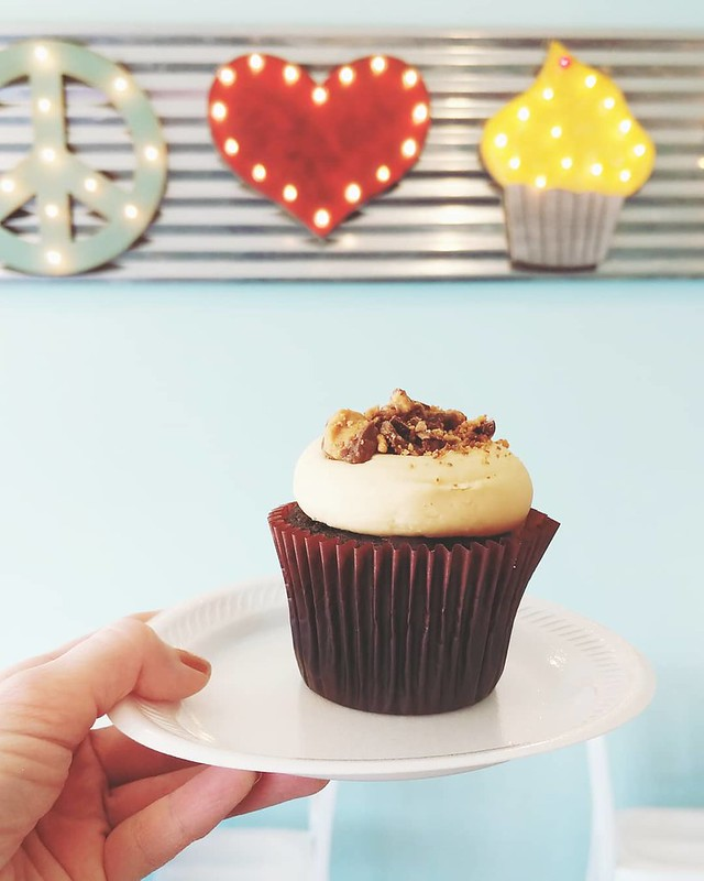 Chocolate Peanut Butter Cupcake - Smallcakes, Temple TX