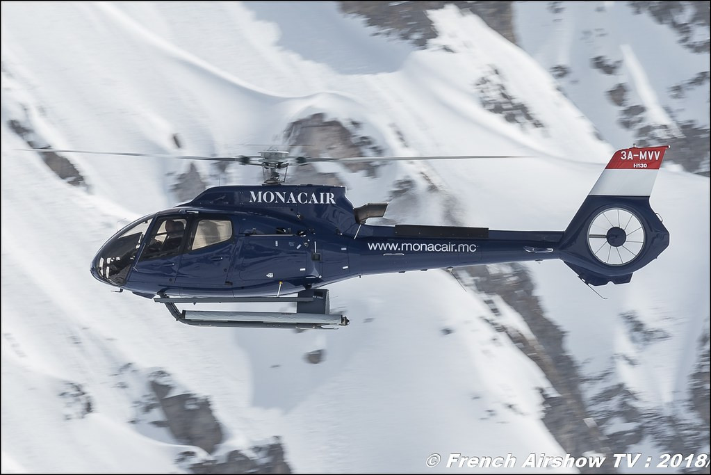 H130 3A-MAJ de MONACAIR, , Fly Courchevel 2018 - Altiport Courchevel , Meeting Aerien 2018
