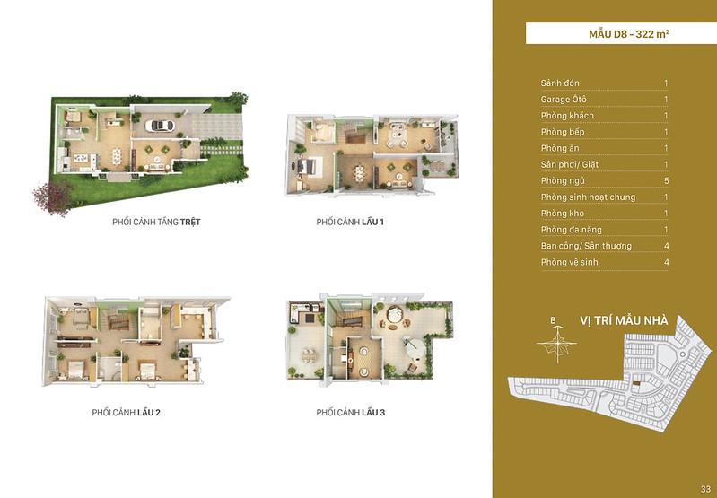 Mẫu thiết kế D8 biệt thự đơn lập Villa Park