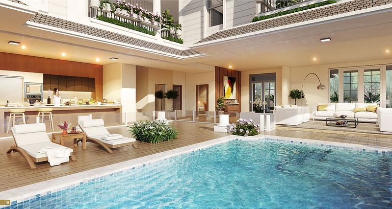 Thiết kế hồ bơi trong biệt thự Park Riverside Premium