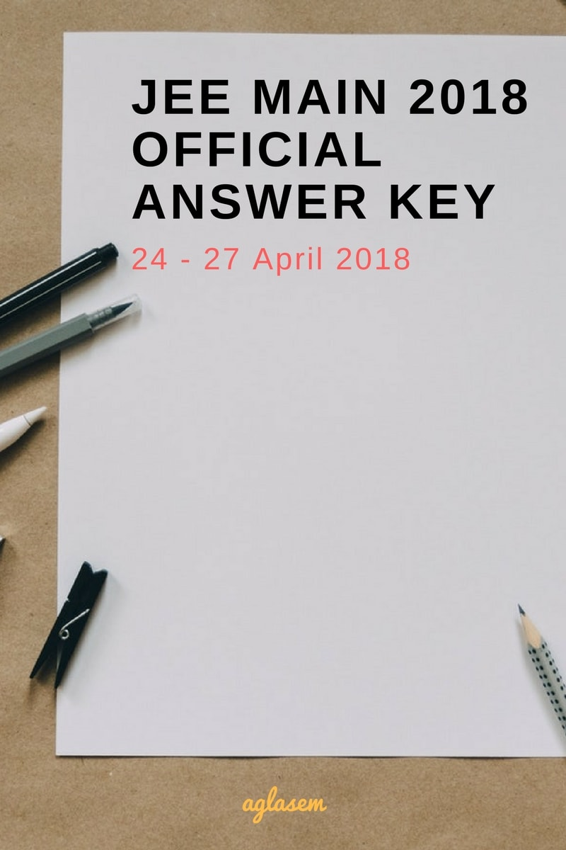 JEE Main 2018 Official Answer Key