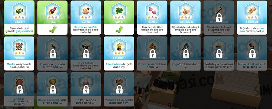The Sims Mobile Heirlooms Retirement Charms Traits Emeklilik Yadigarlar Tılsımlar ve Karakter Özellikleri